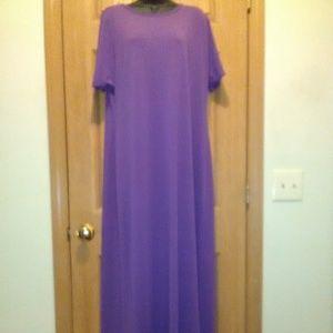 LuLaRoe Maria Short Sleeve Maxi Dress Sz XL EUC!